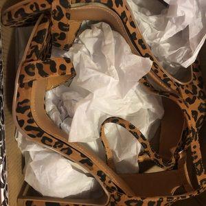 Brand new leopard print heels